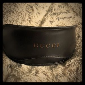 Accessories - Gucci leather sunglass case